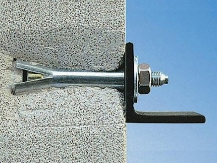 Анкерное крепление к стене: технология установки крепежного элемента