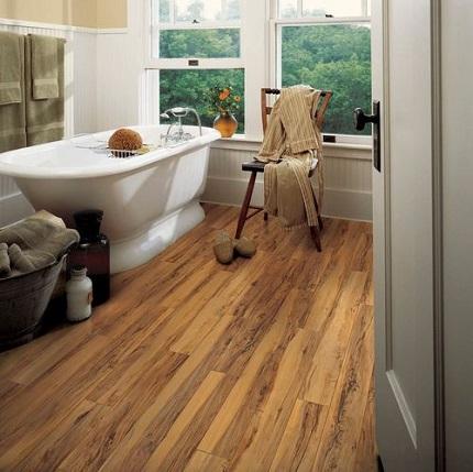 Укладка ламината в ванной комнате: требования к материалу и способы