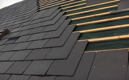 Монтаж плоского шифера и преимущества даного строительного материала