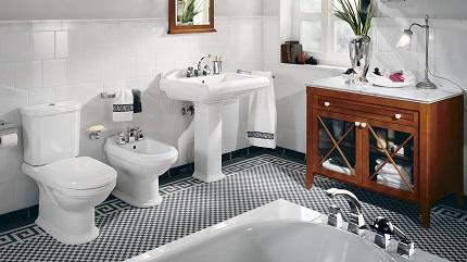 Сантехника для ванной комнаты: материалы изготовления и их особенности