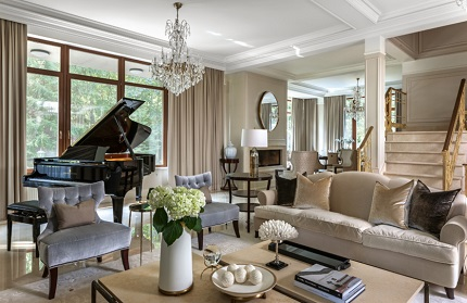 Гостиная в стиле современная классика: характеристика интерьера и мебель